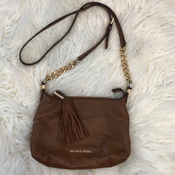 Michael Kors Handbags - MICHAEL KORS leather Weston crossbody purse tassel